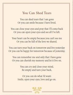 You Can Share Tears
