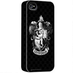 Harry Potter Black and White Gryffindor Crest iPhone Case