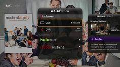 A look at Fan TV's UI on TV. http://venturebeat.com/2013/05/30/fanhattan-fan-tv-set-top-box/