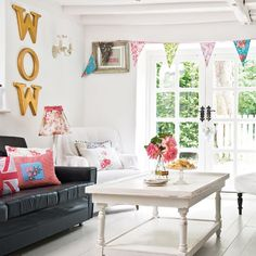 How strange! I just wrote Wow in my last pin and then the very next picture says 'Wow'! Crazy! - Pretty living room