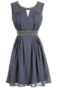 Grey studded chiffon dress ~~ I wish it wasnt gold tho. :(