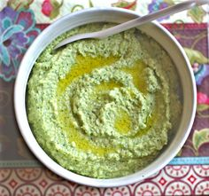 broccoli hummus: broccoli hummus, no beans