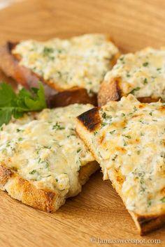 goat cheese and gruyere artichoke toast