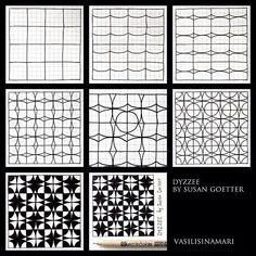 Dyzzee tangle pattern  by Susan Goetter.