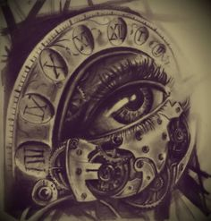 The Eye Clock Tattoo Design