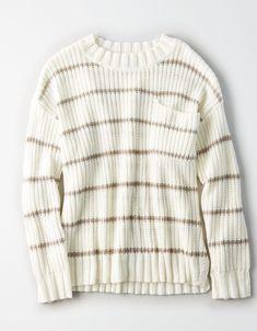 c1cf3928549 AE Stripe Pocket Crew Neck Sweater