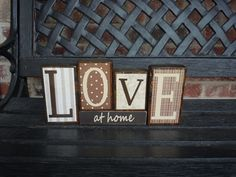 I want Family blocks for the shelf in the living rooms. So I'm saving several ideas.
