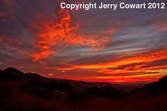 Red Sunset Fine Art Photogarphy Print for by PhotosbyJerryCowart, $40.00