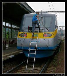 ČD_682 005-4_Prague Holešovice - Bulovka_Czech Republic_Tearful Pendolino Ferdinand, Train Travel, Czech Republic, Locomotive, Prague, Transportation, Electric, World, Pictures