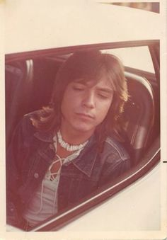 David Cassidy.  Looks tired.  His tight schedule was never-ending with no sleep.  Go figure;  his concert tours and the show at the same time and every day, week, month, etc.