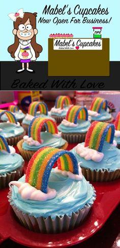 Gravity Falls  Mabel Inspired Rainbow Cupcakes
