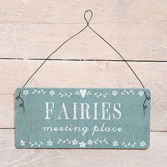 red berry apple Fairies Meeting Place Garden Or Home Sign. A cute sign for the garden or home Promoted Gone Fishing Sign, Fishing Signs, Garden Ideas 2018, Fairy Pots, Peg Hooks, Cute Signs, Meeting Place, Garden Signs, On The High Street