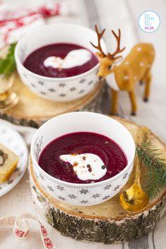 #zupa tygodnia: zupa krem z pieczonych buraków | Lawendowy Dom Dom, Panna Cotta, Food And Drink, Meals, Dinner, Cooking, Ethnic Recipes, Pierogi, Impreza