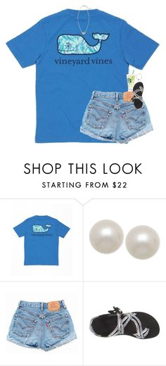 """the new lokia is so cute!"" by classynsouthern ❤ liked on Polyvore featuring Vineyard Vines, Honora, Levi's and Chaco"