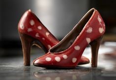 OMG, chocolate polka dot shoes | By Gauthier #Belgium
