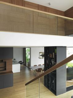 Idea Musterhaus Wienna by SoNo arhitekti in Vienna, Austria Home Interior Design, Interior And Exterior, Interior Ideas, Basement Layout, Basement Ideas, House Plans With Photos, Prefabricated Houses, European House, Wall Finishes