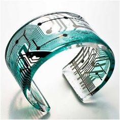 bangle recycled from computer parts - William!