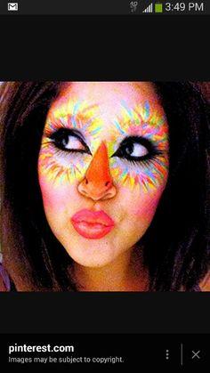 That beak - bird girl suessical  sc 1 st  Pinterest & daisy duck face paint - Google Search   Halloween   Pinterest   Duck ...