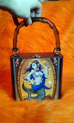 Mermaid Cigar box purse with Awesome green handle by NOXIOUSPUNX  http://www.etsy.com/shop/NOXIOUSPUNX