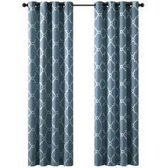 Fretwork Grommet Curtain Panel
