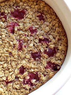 A friend sold me on baked oatmeal- an inexpensive, hearty breakfast that can feed a crowd (or yourself for several days! Almond Milk, Coconut Milk, Green Apron, 2 Eggs, Raspberries, 1 Cup, Brown Sugar, Mint Green, Oatmeal