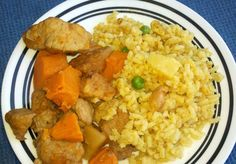 Island Pork and Sweet Potato Toss with Pineapple Fried Rice