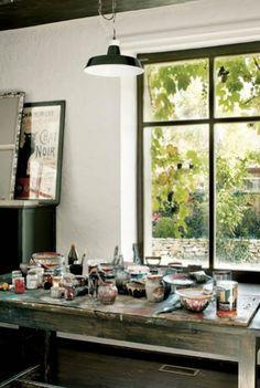 atelier met licht, contact met tuin, sfeer
