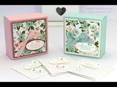 Pretty Box for 3x3 cards... Or for Soaps! 3 1/2 x 3 1/2 x 1 3/4