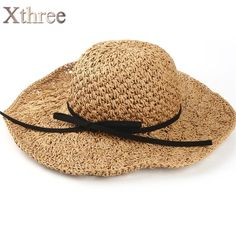 098b83fc1508c7 Xthree two size handmade Weave straw women summer hat kids panamas Vintage  Sinamay Fascinator hat for girl