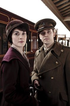 Two characters that are the biggest headache...but you'll love them all the same. Still of Dan Stevens and Michelle Dockery in Downton Abbey.