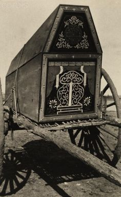 Decorated Mongolian coffin