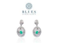 """Cat's Eye™ Earrings  """"Inspired by cat's eyes, Blues Jewellery's stunning diamond earrings are sure to add spark to her class.""""  #BluesJewellery #Earrings #Diamond"""