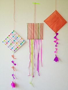 summer kites...and they look great just hanging on the wall!!