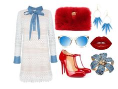 """""""Simple breakfast RB"""" by cynthianavarro-1 on Polyvore featuring moda, Christian Louboutin, Benedetta Bruzziches, Lime Crime y Gucci"""