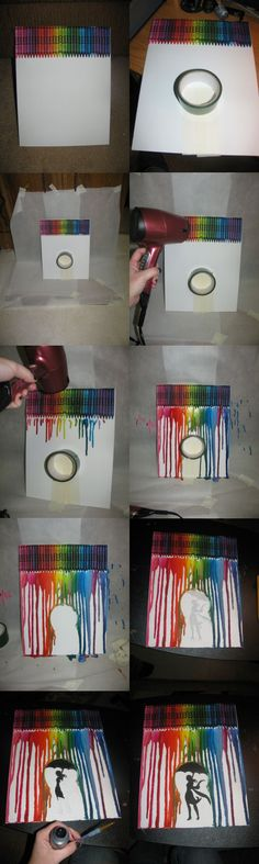 Melted Crayon. This is how I did it. I can think of a few pictures I could do with this