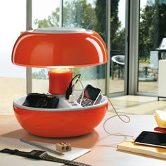 Lampe à poser Vivida JOYO - Lampe Orange Laqué