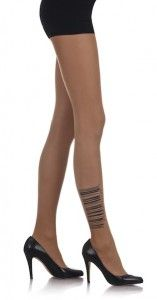 Barcode Print Sheer Tights Body Color - #TrendyLegs