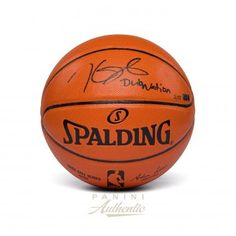 ed940c14834 KEVIN DURANT Autographed Spalding Replica Basketball with