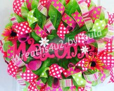 Easter Wreath/ Cross Mesh Wreath/ Easter Egg by Wreaths4u2byPaula