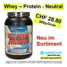 Whey – Protein - Neutral/Nature CHF 28.80, 900g-Dose von IRONMAXX neu im Sortiment #highprotein #hoherProteingehalt #fitness #fitnessschweiz #active12 #natural #Whey #Protein #Wheyprotein #bodybuilding #kraftsport #backen #Wheyconcentrate #Neutral #Nature #Nature #IRONMAXX ►►► Bestellbar ab Lager Dulliken hier: http://www.active12.ch/Sportnahrung-und-Ergaenzungen/Protein-Pulver/Eiweiss-Pulver--Whey-/WHEY-PROTEIN-IRONMAXX-Neutral.html