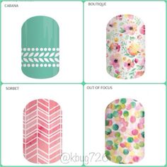 Jamberry pairings! Cabana / Out of Focus / Sorbet / Boutique