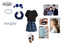 """""""Tonight by Jonas Brothers"""" by ocean-goddess ❤ liked on Polyvore featuring Maje, New Look, Cathy Waterman, Bling Jewelry, Dsquared2, Sydney Evan and Rosetta Getty"""