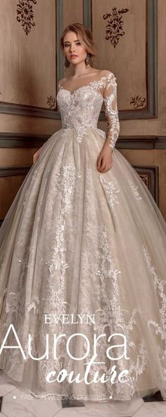(LOVE THE TOP OF THIS) Ball gown, wedding dress, EVELYN, wedding dresses, bridal dress, bridal gown #weddings #dresses #weddingdresses