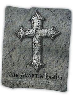 """Stone Cross"" Fleece Blanket Christian Artwork, Churches Of Christ, Fleece Blankets, Christian Church, Printing Companies, Home Decor Items, Bible, Symbols, Stone"