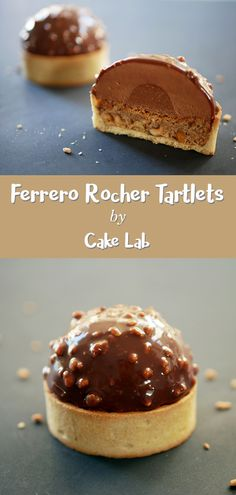 Ferrero rocher tartlets cake lab butter cookie like mini tarts soaked in coffee covered with chocolate and a rich mascarpone cream dessert tartlets tiramisu Beaux Desserts, Fancy Desserts, Delicious Desserts, Fancy Chocolate Desserts, Gourmet Desserts, Plated Desserts, Ferrero Rocher Torte, Ferrero Rocher Coconut, Fererro Rocher Cake