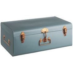 Buy Habitat Large Trunk with Copper Claps - Blue at Argos.co.uk - Your Online Shop for Children's toy boxes and storage.