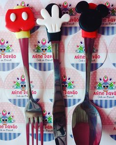 Mickey Mouse, Instagram, Cutlery, Places, Michey Mouse, Baby Mouse
