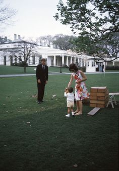 ST-A2-8-63. President John F. Kennedy, First Lady Jacqueline Kennedy, and John F. Kennedy, Jr. at Children's Party - John F. Kennedy Presidential Library & Museum