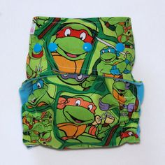 All In Two Cloth Diaper with Teenage Mutant Ninja Turtles Print - One Size Fits Most Babies on Etsy, $24.00