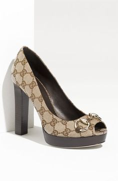 Gucci 'Sunset' Peep Toe Platform Pump available at #Nordstrom